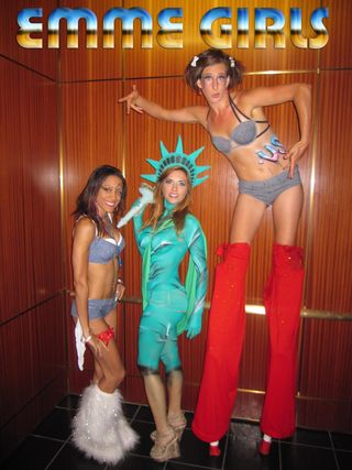 Ultra luxury events in NYC staffing, models, dancers, party planner, stilt walker, aerialist, cirque performers call Emme Girls today 202 436 5114